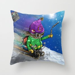 Sled Slayers Throw Pillow
