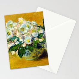 "Claude Monet ""Christmas Roses"" Stationery Cards"