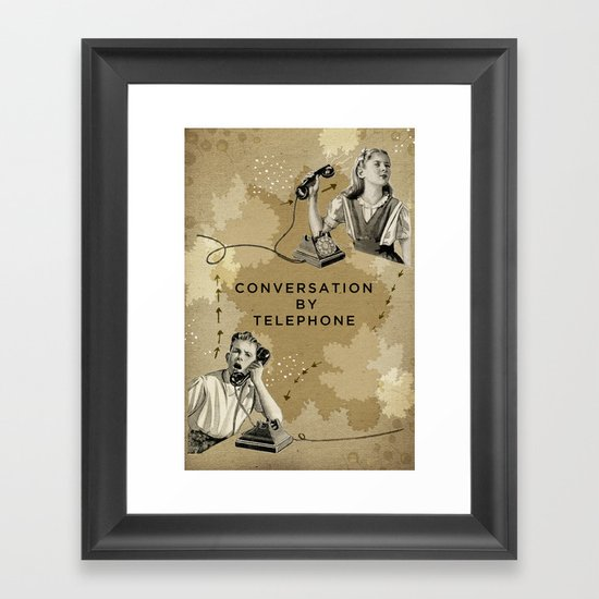 Conversation by Telephone Framed Art Print