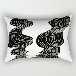 Parallel Lines No.: 02. - White Lines Rectangular Pillow