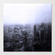 London Old vs New Canvas Print