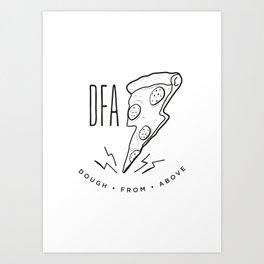 DFA White Art Print