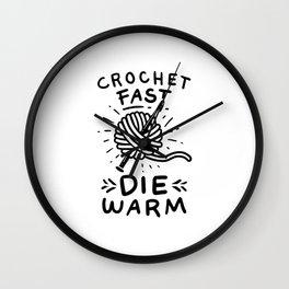 Crocheting Wall Clock