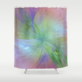 Mystic Warmth Abstract Fractal Shower Curtain