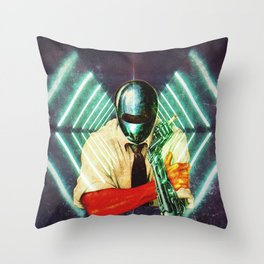 Robot Cig Throw Pillow
