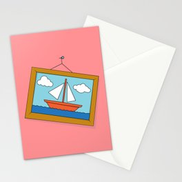 Scene from Moby Dick on pink Stationery Cards