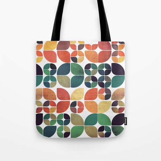 Vintage Fall Pattern Tote Bag