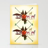 africa Stationery Cards featuring Africa by famenxt