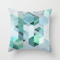 nordic Throw Pillows featuring Nordic Combination 22 by Mareike Böhmer