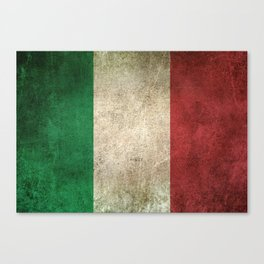 Old and Worn Distressed Vintage Flag of Italy Canvas Print