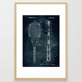 1972 - Tennis patent art Framed Art Print