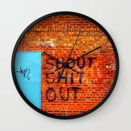 Shout Shit Out.  Wall Clock