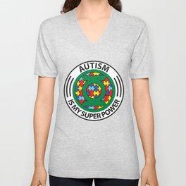 Autism is my superpower Unisex V-Neck