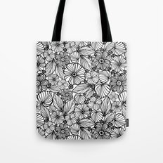 Candy flowers in black Tote Bag