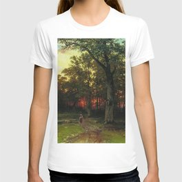 Woods in the Evening by Ivan Shishkin T-shirt