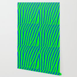 Zebra Print (Green & Blue) Wallpaper