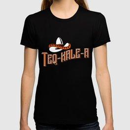 Teq-Kale-A Tequila Kale Art for Vegans, Vegetarians Dark T-shirt