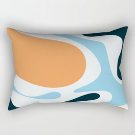 Orange blue abstract  Rectangular Pillow