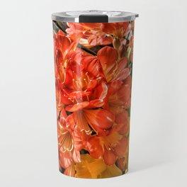 Orange Spring Flowers and Yellow Daffodils Travel Mug