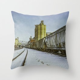 Cold Trains, heh heh. Throw Pillow