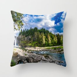 Snoqualmie Falls from Below Throw Pillow