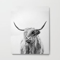 portrait of a highland cow - vertical orientation Metal Print