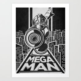 Megaman. In the year 20xx Art Print