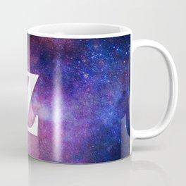 Monogrammed Logo Letter Z Initial Space Blue Violet Nebulaes Coffee Mug