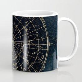 Golden Star Map Coffee Mug