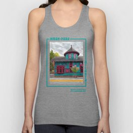Inman Park Trolley Barn, Atlanta Unisex Tank Top