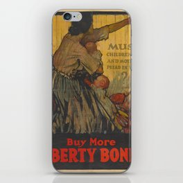 Liberty Bonds Vintage Poster Mother Baby iPhone Skin
