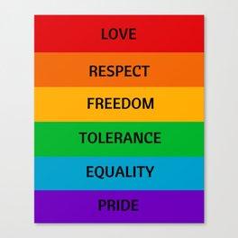 LGBT PRIDE Canvas Print