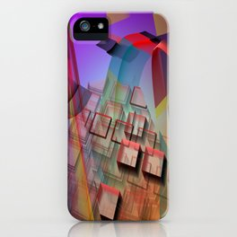 Modern geometric abstract with 3-d effects iPhone Case
