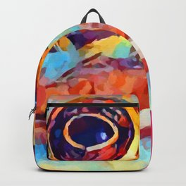 Frog Watercolor Backpack