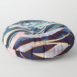 Moonlit Ocean Floor Pillow