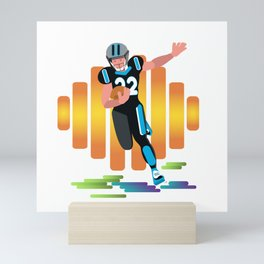 Football Player Mini Art Print