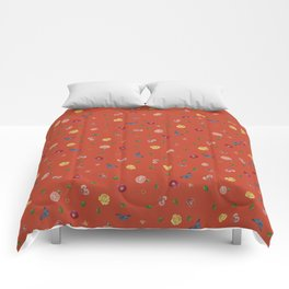 Botanical Red Comforters