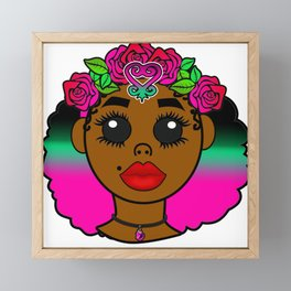 Kawaii Sankofa Goddess Framed Mini Art Print