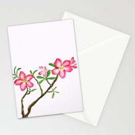 red flower adenium plant Stationery Cards