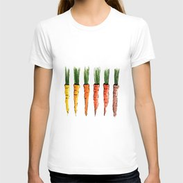 Happy colorful carrots T-shirt