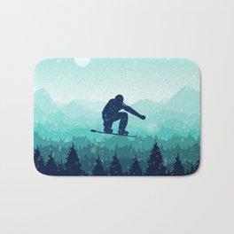Snowboard Skyline II Bath Mat