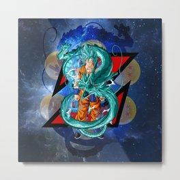 Dragon Ball Super Goku Super Saiyan Blue Metal Print