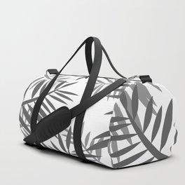 Fern Palm leaves big black and white Duffle Bag