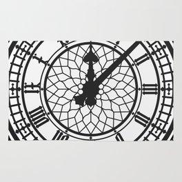 Big Ben, Clock Face, Intricate Vintage Timepiece Watch Rug