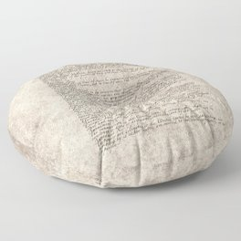 United States Bill of Rights (US Constitution) Floor Pillow