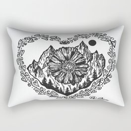 """Heart in the Highlands"" Scotland, Scottish Art, Irish Artwork, Celtic Decor Rectangular Pillow"