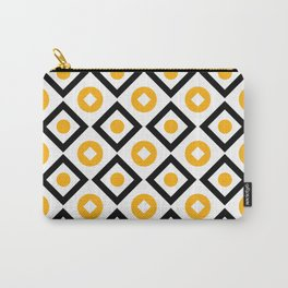 Sun yellow pattern of rhombuses and circles Carry-All Pouch