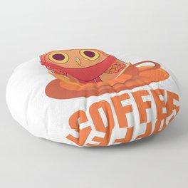 Life Begins After Coffee Floor Pillow