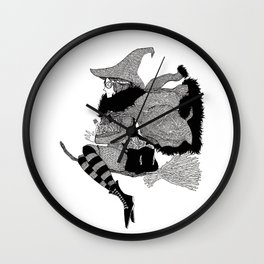 The Witch of Herbs Wall Clock