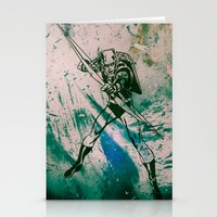 green arrow Stationery Cards featuring GREEN ARROW by Zorio